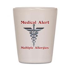 Medical Alert Multiple Drug A Shot Glass