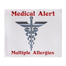 Medical Alert Multiple Drug A Throw Blanket
