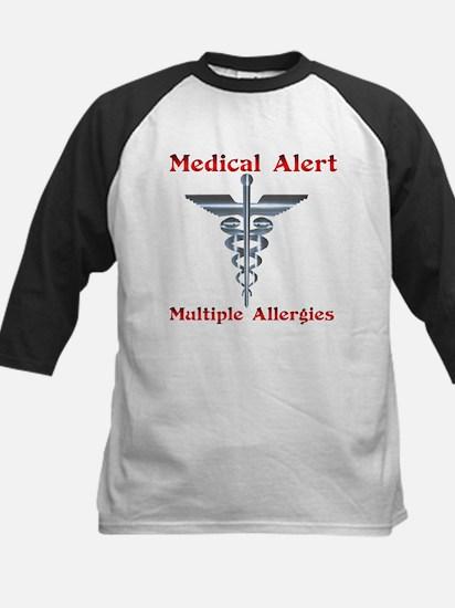 Medical Alert Multiple Drug A Kids Baseball Jersey