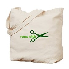 Runs with Scissors Tote Bag