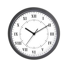 Roman Numerals And Lines Wall Clock