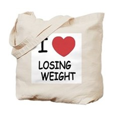 i heart losing weight Tote Bag