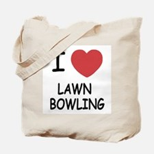 i heart lawn bowling Tote Bag