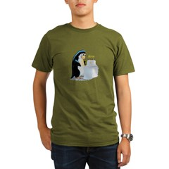 PeNgUiN BiRtHdAy CaKe Organic Men's T-Shirt (dark)