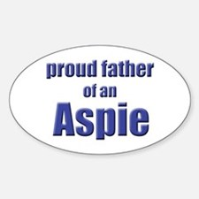 Proud Father of an Aspie Oval Decal