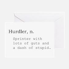 Hurdler Greeting Card