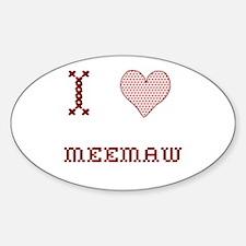 I [Heart] Meemaw Oval Decal