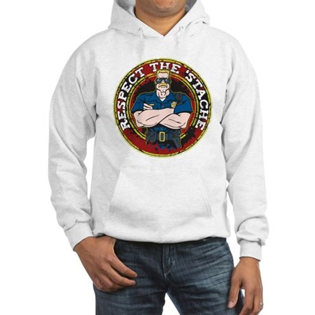 Respect the 'Stache Police Officer Hooded Sweatshi