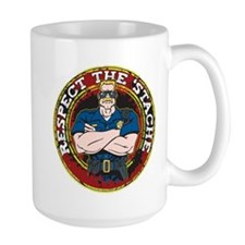 Respect the 'Stache Police Officer Mug