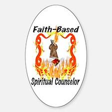 Spiritual Counselor Oval Decal
