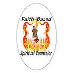 Spiritual Counselor Oval Sticker