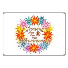 Funny Growing flowers Banner