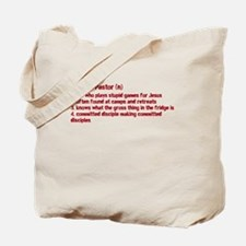 Youth Pastor Definition Tote Bag