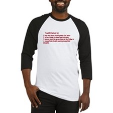 Youth Pastor Definition Baseball Jersey