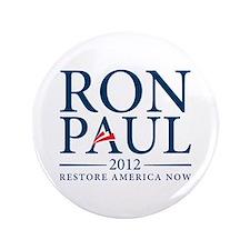"""Ron Paul 2012 3.5"""" Button"""