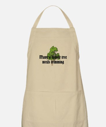 Trimming Family Tree Apron