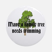 Trimming Family Tree Ornament (Round)