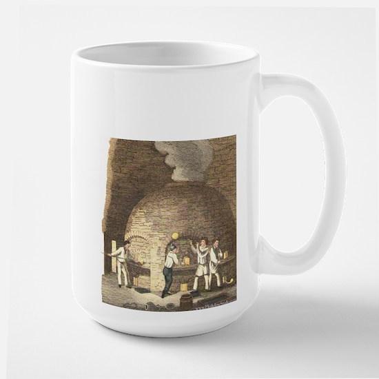 Ancient Glassblowing Hot Shop Large Mug