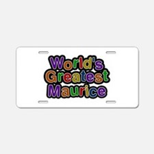 World's Greatest Maurice Aluminum License Plate