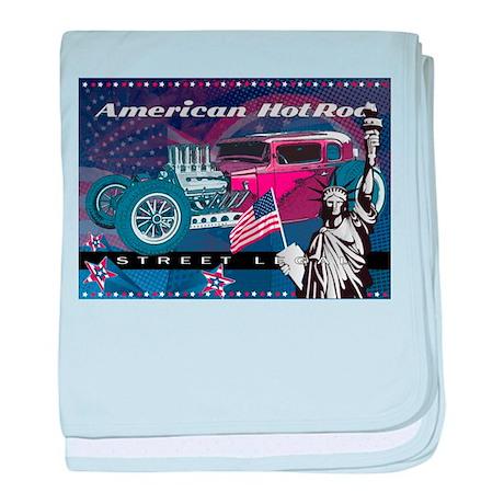 American HotRod baby blanket