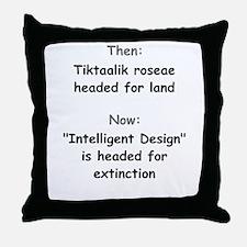 Intelligent Design Extinction Throw Pillow