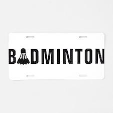 Cute Badminton Aluminum License Plate