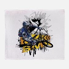 BMX Underground Throw Blanket