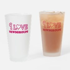 I Love Newsgroups Drinking Glass