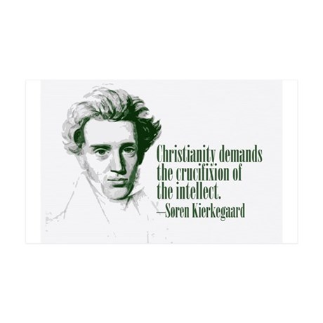 Kierkegaard on Christianity 38.5 x 24.5 Wall Peel