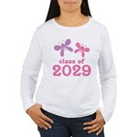 2029 Girls Graduation Women's Long Sleeve T-Shirt