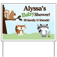 Enchanted Forest Woodland Baby Shower Yard Sign