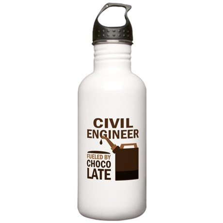 Funny Civil Engineer Stainless Water Bottle 1.0L