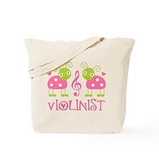 Violin Music Ladybug Tote Bag