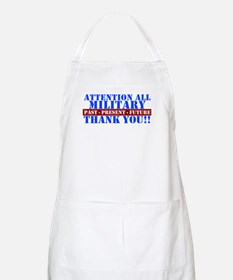Cute Military thank you Apron