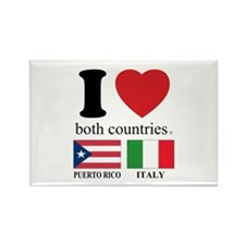 PUERTORICO-ITALY Rectangle Magnet (10 pack)