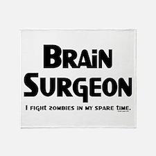 Brain Surgeon Gamer Throw Blanket