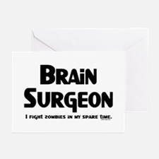Brain Surgeon Gamer Greeting Cards (Pk of 20)