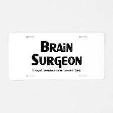 Brain Surgeon Gamer Aluminum License Plate