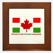 Proud to be Italian Canadian Framed Tile