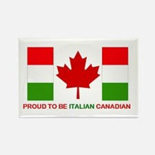 Proud to be Italian Canadian Rectangle Magnet
