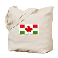 Proud to be Italian Canadian Tote Bag