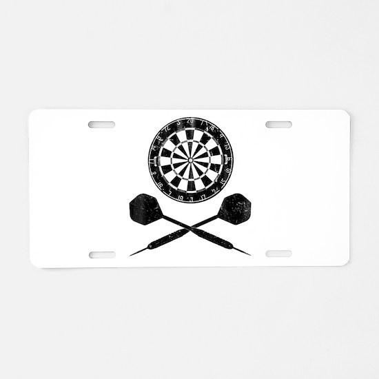 Vintage Darts Aluminum License Plate