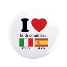 """ITALY-SPAIN 3.5"""" Button (100 pack)"""