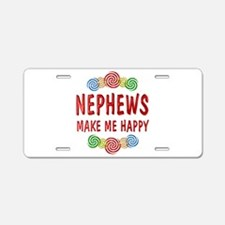 Nephew Happiness Aluminum License Plate