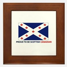 Proud to be Scottish Canadian Framed Tile