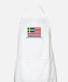 Proud to be Swedish American BBQ Apron