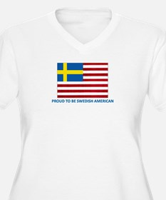 Swedish American Women's PlusSize V-Neck TShirt