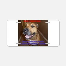 Dog Fighting Aluminum License Plate