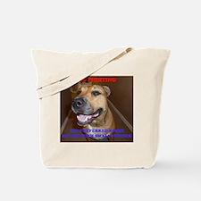 Dog Fighting Tote Bag