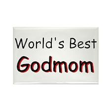 Worlds Best Godmom Rectangle Magnet